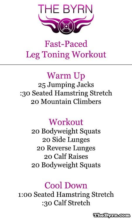 Leg Toning Exercise for Women