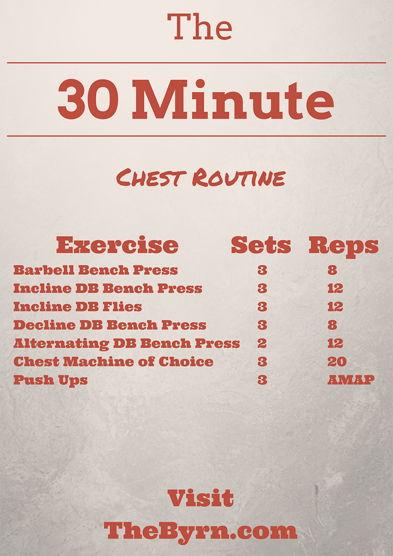 The 30 Minute Series Chest Routine
